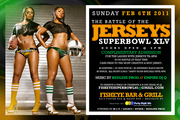 SUPERBOWL PARTY 2/6 BATTLE OF THE JERSEYS @ FISH EYE