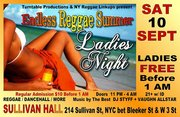 "Endless Reggae Summer ""Ladies Night"" FREE for Ladies until 1 AM"