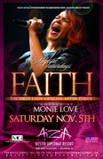 FAITH EVANS after party