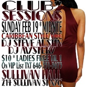 CLUB SESSIONS: Presidents Day Caribbean Style