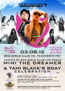 BAD GIRLS CLUB (MiMi) vs. TECHA'S PET (Tami Black) - rsvp for guest list