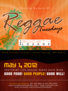 Reggae Tuesdays @ Society Lounge in Silver Spring
