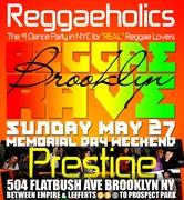 "5/27 Reggaeholics ""REGGAE RAVE"" Memorial Day Holiday Sunday!"