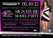 DESTINATION THURSDAYS: Signature Model Party - Open CIROC bar