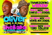 2 for 1, Sunday Nov 25th, for the 'FIRST TIME' ever. OLIVER SAMUELS meets SHEBADA @ York College in Queens