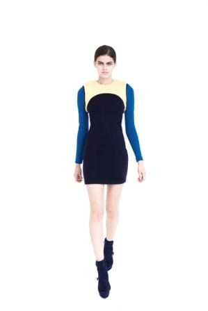Long-Sleeved Fitted Jersey Dress