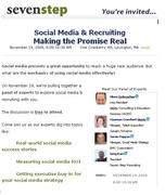 Social Media & Recruiting, Making the Promise Real