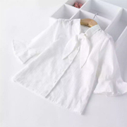 Solid White Shirt For Girls