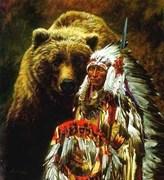 urso e indio