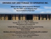 Ontario Hay and Forage Cooperative (OHFC) Timothy Tour and Twilight Meeting