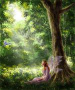 fada na floresta