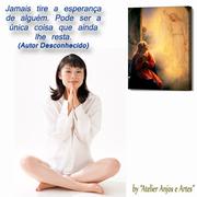Meditando com tela da Anunciação do Nascimento de Jesus