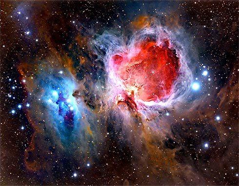 Nebulosa M42, colhida na Internet. Gratidão a autor