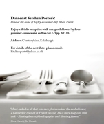 dinner at kitchen porters - 28 July