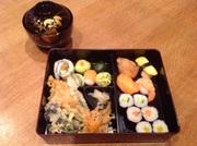 Japanese Bento lunch - SUSHI AND TEMPURA