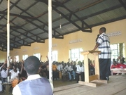 Bishop Musisi Addressing the Youth in the Camp 2009