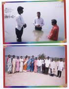 Brother Jacob vadlapati Praying before giving Bapatisms & After Baptisms with attended believers