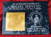 CONFERENCIA ASTROLOGÍA Y HERMETISMO EN MIGUEL SERVET