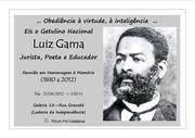 Atividade em Homenagem à Memória de Luiz Gama