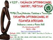 V CISP - ENCONTRO INTERNACIONAL DE FILOSOFIA AFRICANA