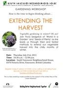 Extending the Harvest
