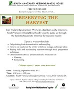 Preserving the Harvest - free workshop