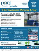 2 Day Aquaponics Workshop and Tour at UBC