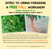 Free Workshop - Intro to Urban Foraging
