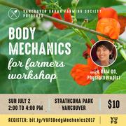 Body Mechanics for Farmers Workshop