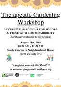 Therapeutic Gardening Workshop