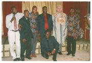 Bishop Albert and his pastors with Bishop David