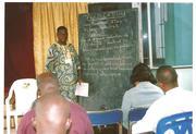 Bishop Albert teaching his students