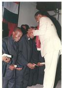 Bishop Albert ordaining pastors