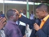 Ministering to a man