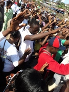 Prayers during the Jesus March