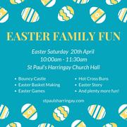 FREE Easter Family Fun with Basket Making and Bouncy Castle