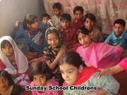 Mrs.Sumera Asif teaching Sunday school