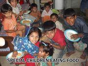 Child eating food