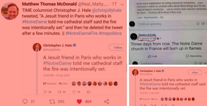 "Notre Dame Cathedral Inferno ""Intentionally Set"": Experts Explain the Timing and Sacrificial Elements plus more 2056191646?profile=RESIZE_710x"