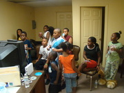Our youth in Pastors office playing video games at the lock in