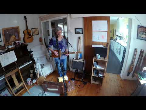Busking Practice & Zoom Q2N Test - With 3 String Cigar Box Guitar & Looping