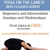 YOGA ON THE LANES! NEW CLASSES! NEW COURSE! FREE!