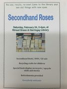 Secondhand Roses: book/CD/DVD sale and recycling themed afternoon at Stroud Green and Harringay Library