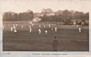 Harringay Cricket Pitch, looking towards Northumberland House, c1905