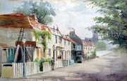 Manor Cottages, Watercolour 1900