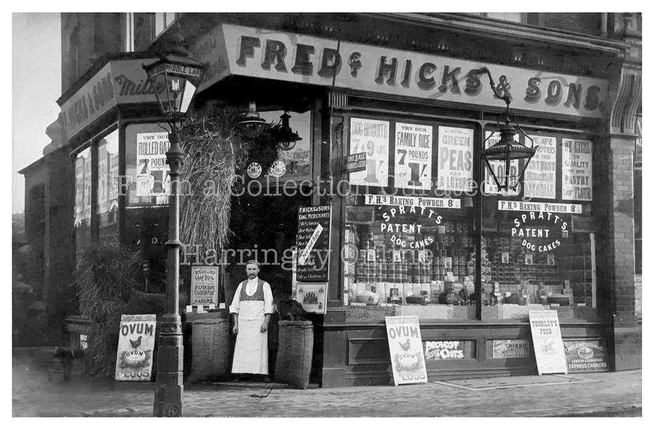 Fred Hicks Middle Lane, Crouch End, c1905