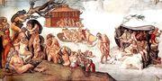 Микеланнжело Буонароти - Библейския потоп  2