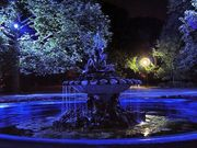 Морската градина- фонтанът на сирените вечер   !!!