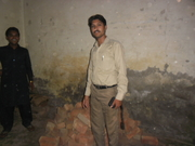 Pastor Asif visiting church building