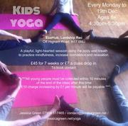 Every Monday Kids Yoga at the Hub until 19th Dec